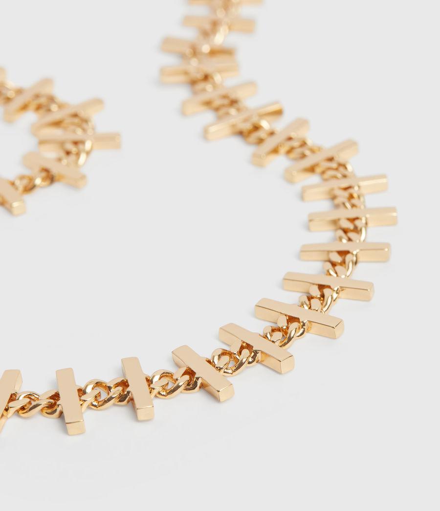 Womens Camila Gold Tone Semi-Precious Crystal Quartz Necklace (gold) - Image 4