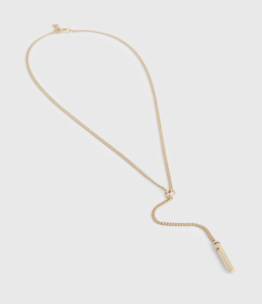 Women's Delicay Gold-Tone Necklace (warm_brass) - Image 2