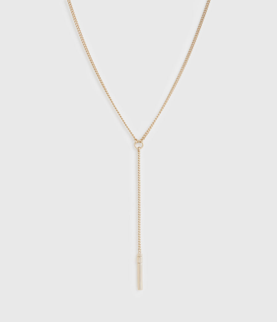 Women's Delicay Gold-Tone Necklace (warm_brass) - Image 3