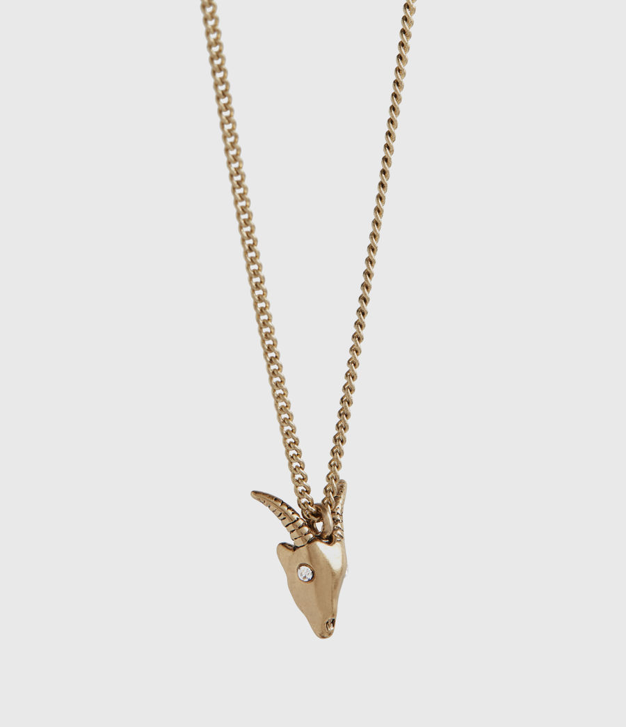 Womens Mini Ram Gold-Tone Necklace (warm_brass) - Image 3