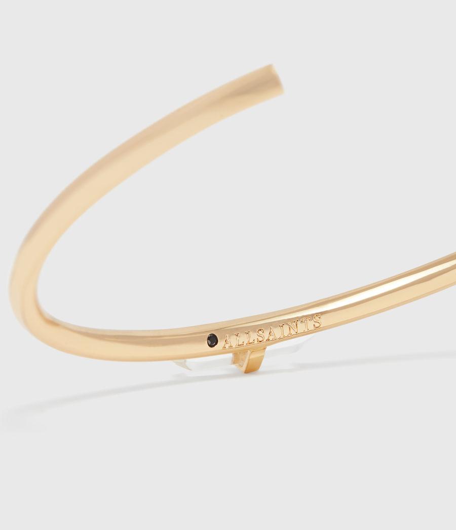 Donne Bracciale Ella - Design aperto con pietra di quarzo (gold) - Image 4