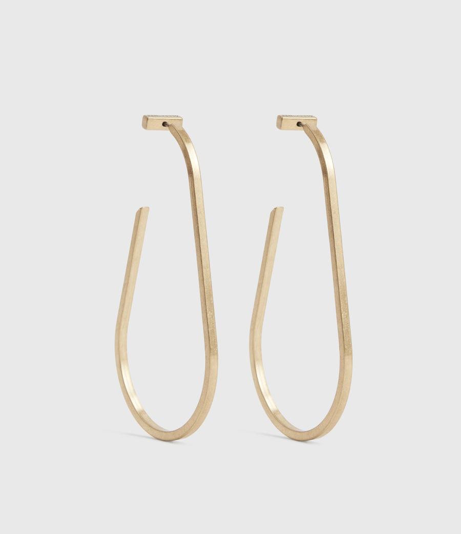 Womens Venus Gold-Tone Hoop Earrings (warm_brass) - Image 3
