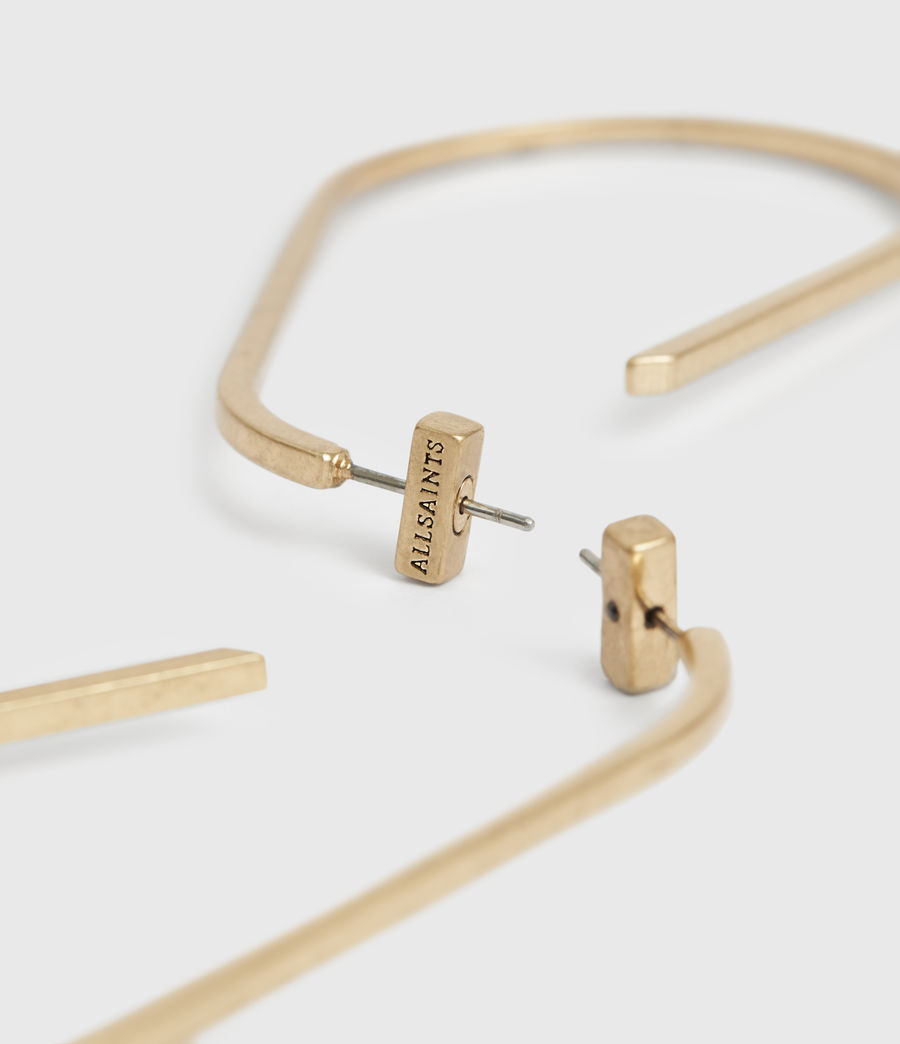 Womens Venus Gold-Tone Hoop Earrings (warm_brass) - Image 4