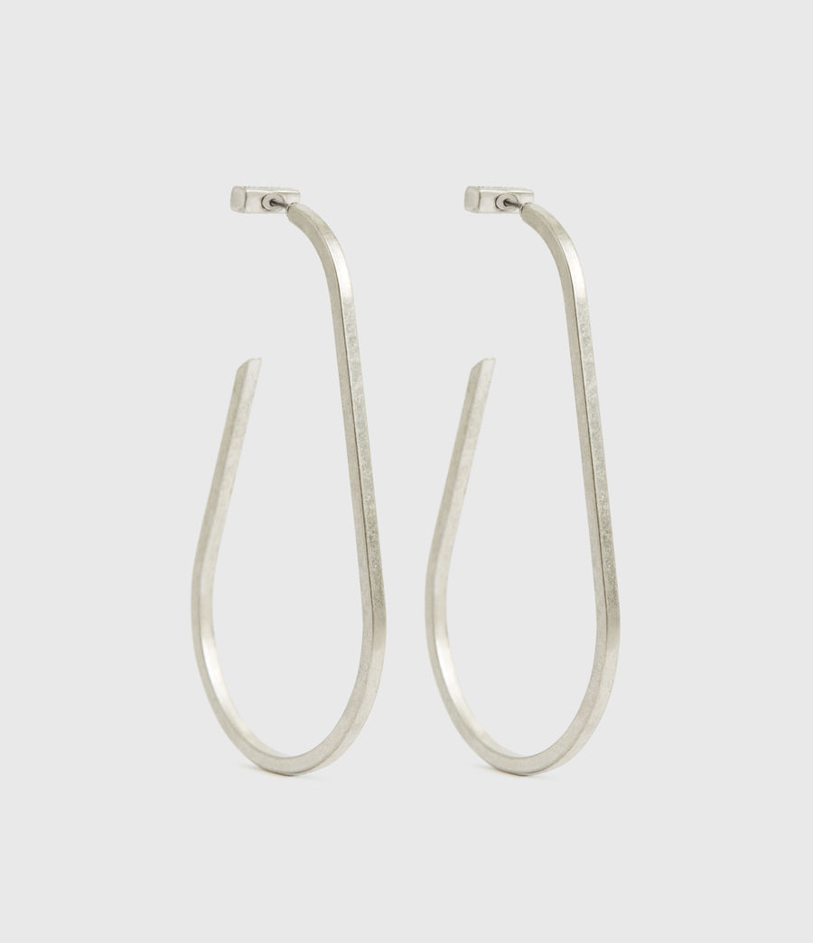Womens Venus Silver-Tone Hoop Earrings (warm_silver) - Image 2