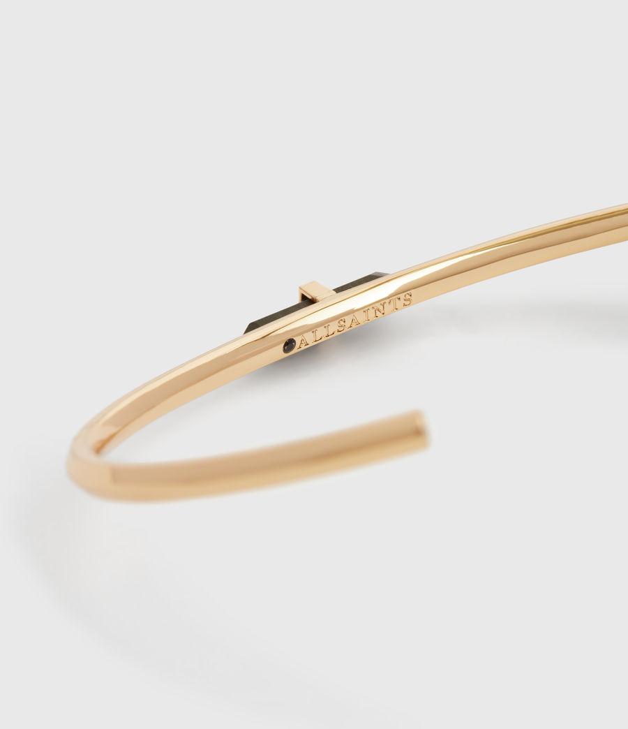 Women's Ella Gold Tone Semi-Precious Pyrite Cuff Bracelet (pyrite) - Image 4