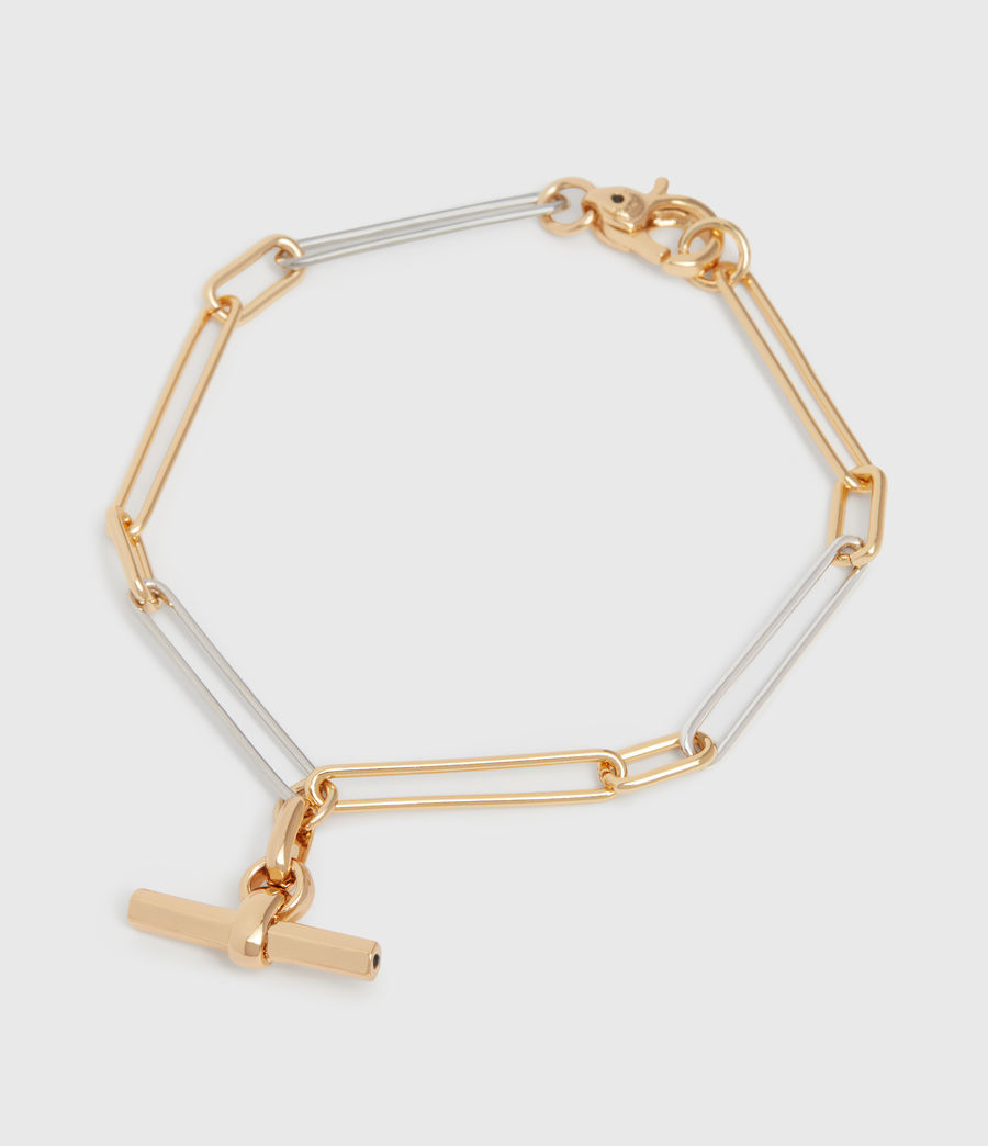 Womens June Two-Tone Bracelet (gold) - Image 2