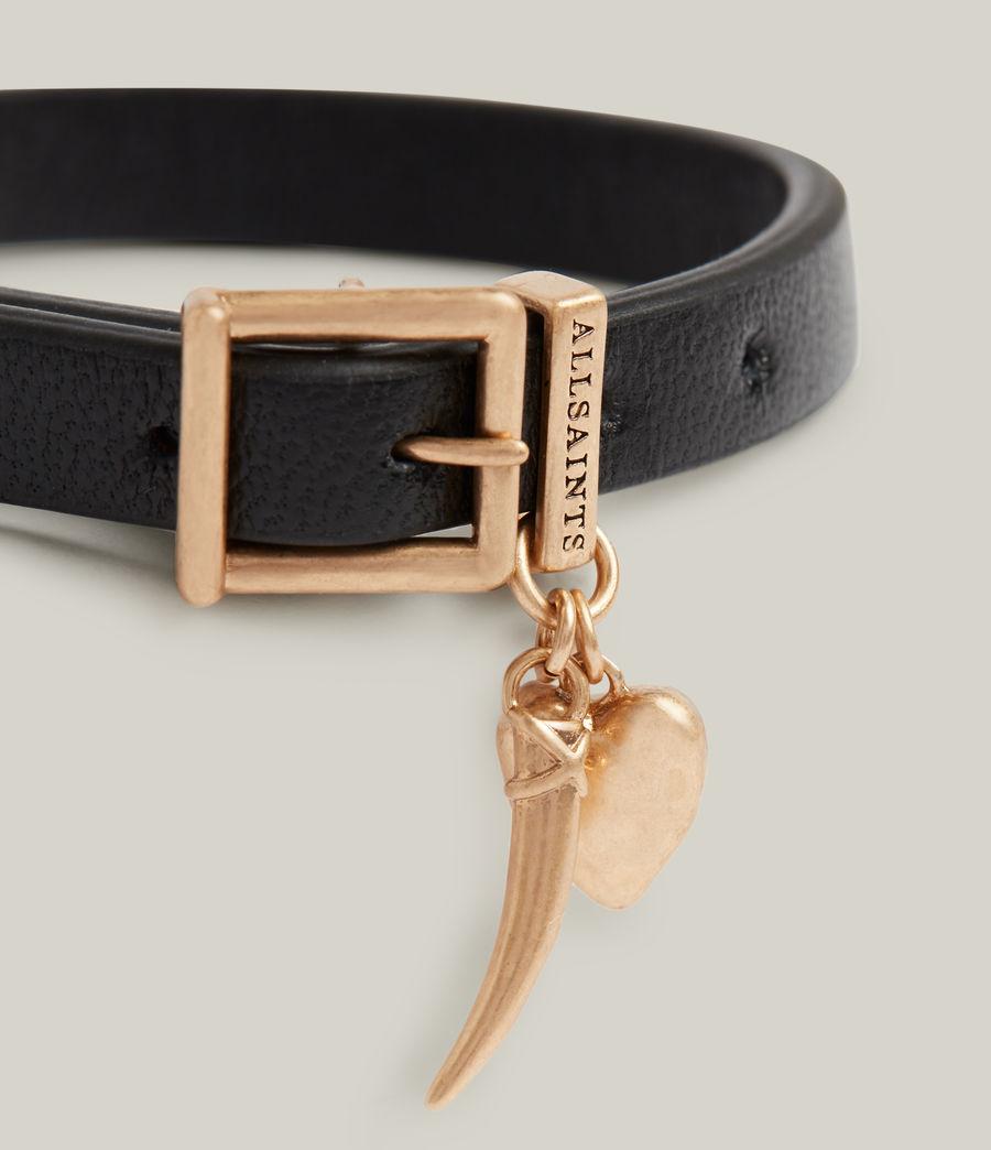 Women's Una Bracelet (black_warm_brass) - Image 1