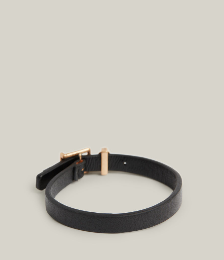 Women's Una Bracelet (black_warm_brass) - Image 2