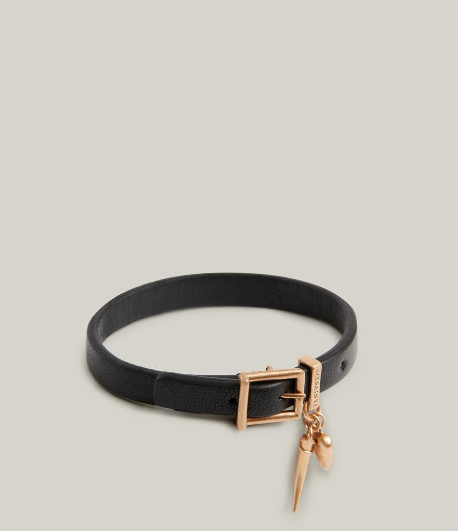Women's Una Bracelet (black_warm_brass) - Image 3