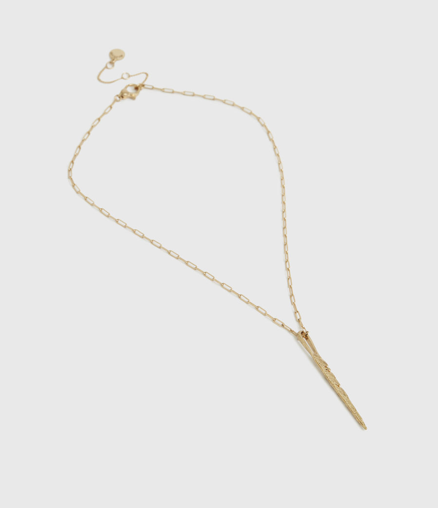 Women's Fleur Gold-Tone Necklace (warm_brass) - Image 3