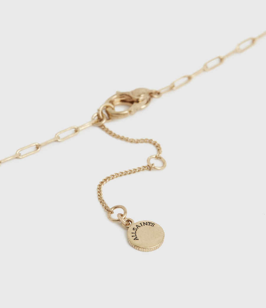 Women's Fleur Gold-Tone Necklace (warm_brass) - Image 4