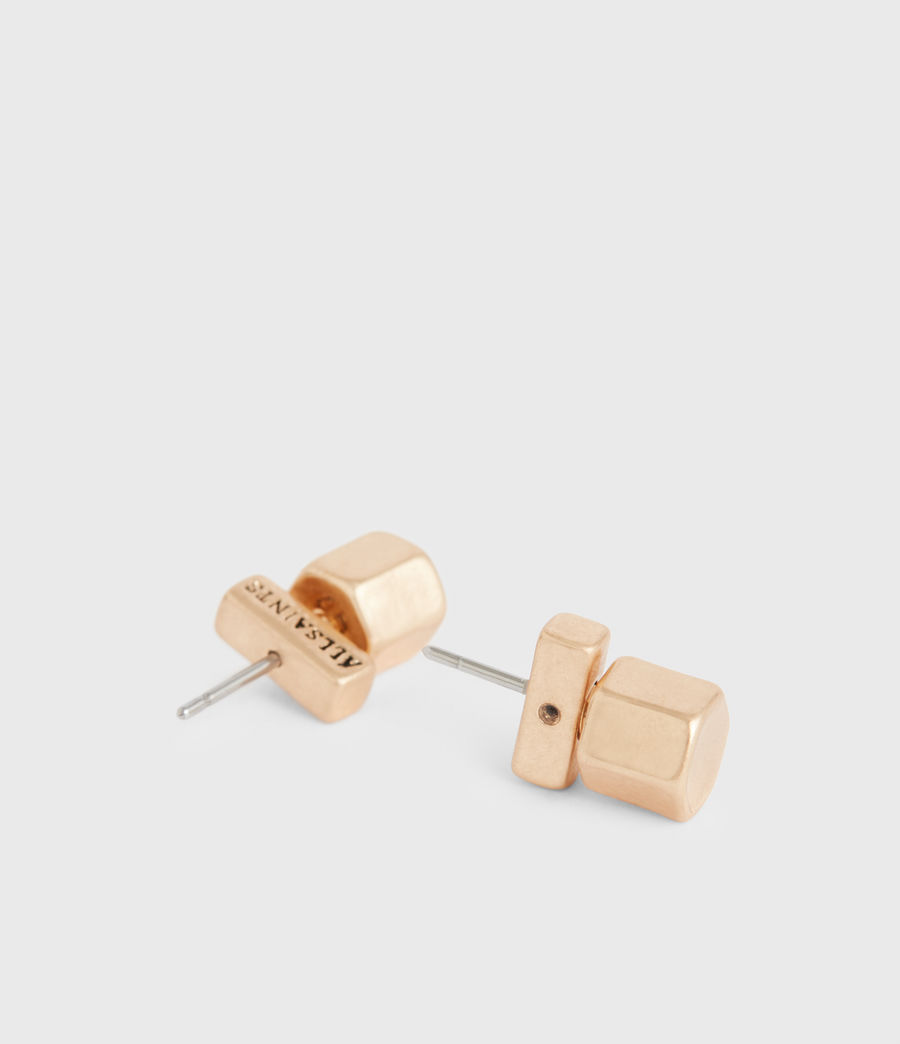 Women's Bolt Gold-Tone Studs (warm_brass) - Image 4