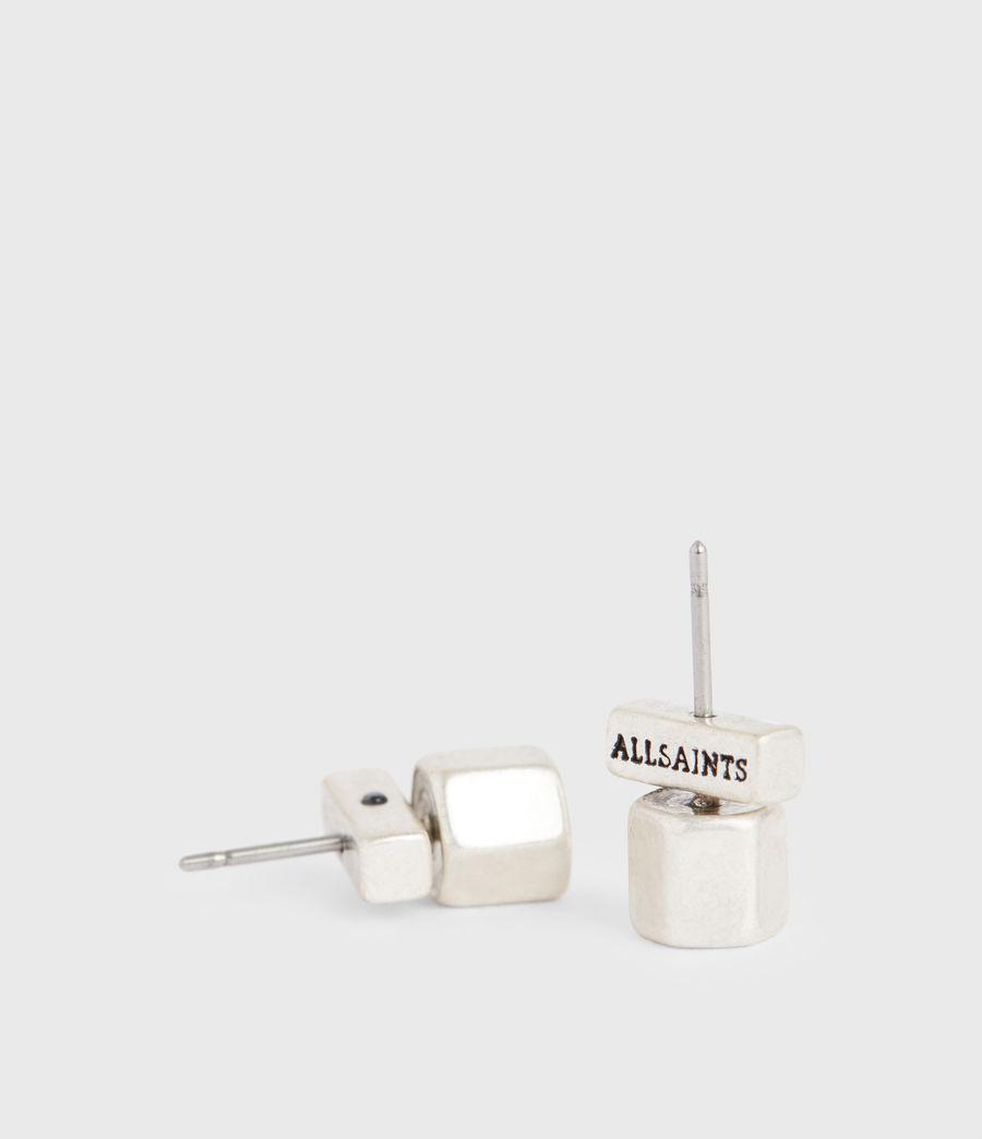 Damen Bolt Siler-Tone Studs (warm_silver) - Image 4
