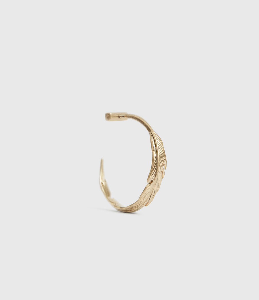 Women's Fena Gold-Tone Hoop Earrings (warm_brass) - Image 1