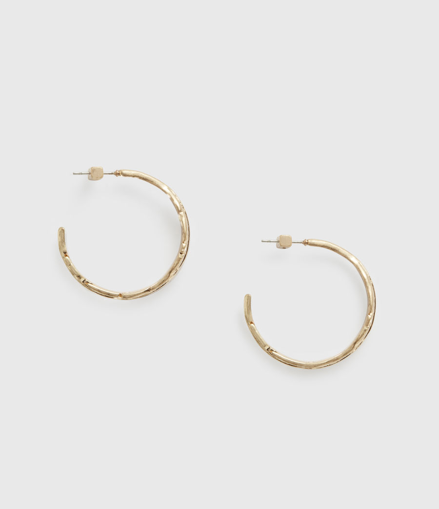 Women's Fena Gold-Tone Hoop Earrings (warm_brass) - Image 2