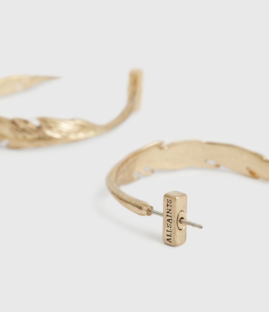 Women's Fena Gold-Tone Hoop Earrings (warm_brass) - Image 3
