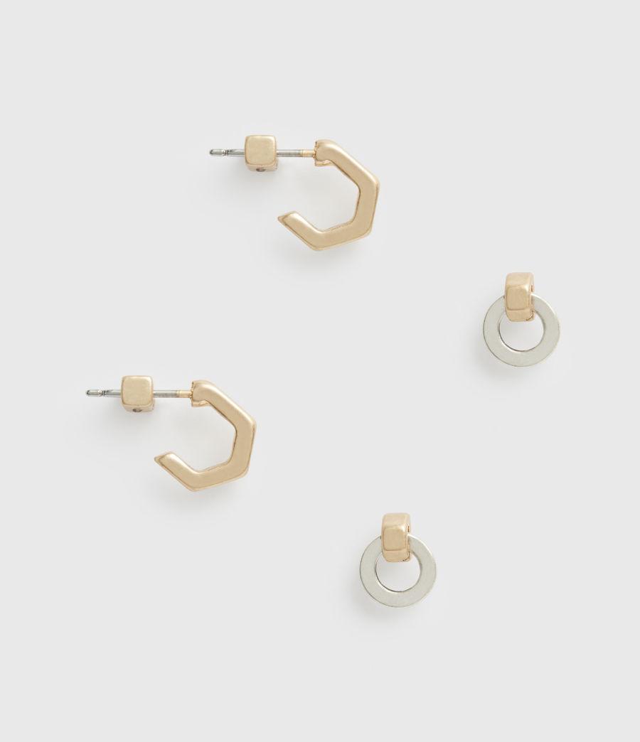 Women's Knox Gold-Tone Stud Earring Set (wrm_brss_wrm_silvr) - Image 1