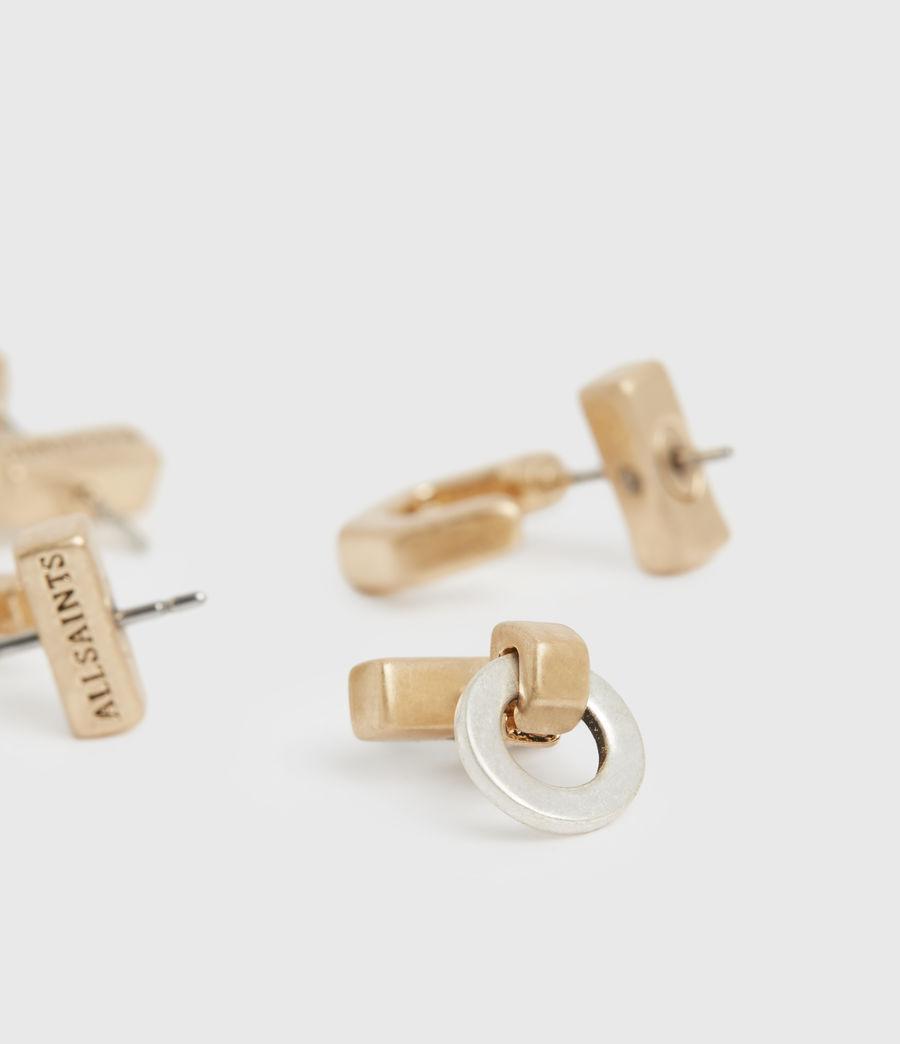 Women's Knox Gold-Tone Stud Earring Set (wrm_brss_wrm_silvr) - Image 2