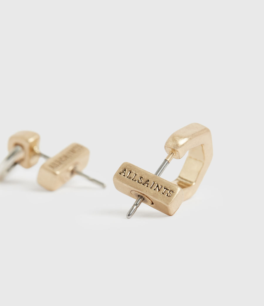 Women's Knox Gold-Tone Stud Earring Set (wrm_brss_wrm_silvr) - Image 3