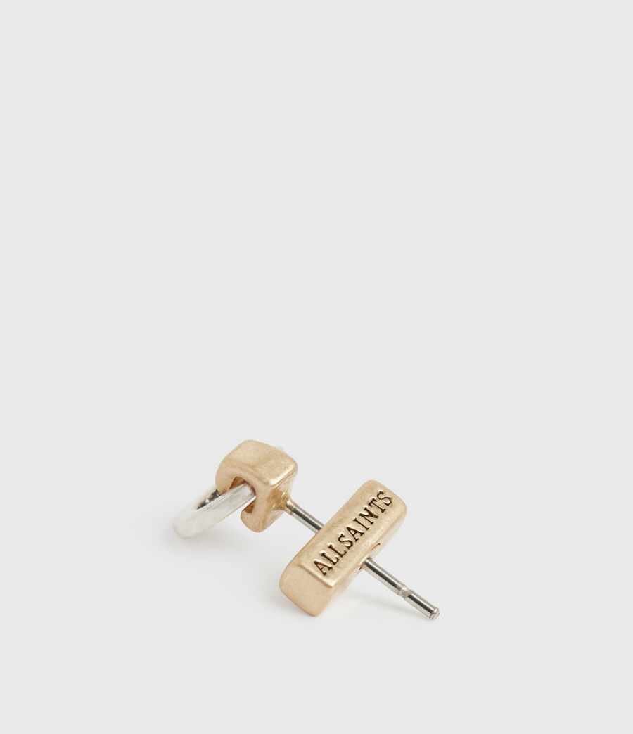 Women's Knox Gold-Tone Stud Earring Set (wrm_brss_wrm_silvr) - Image 4
