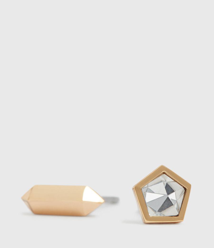 Damen Erin Gold Tone Semi-Precious Crystal Quartz Stud Set (gold) - Image 3