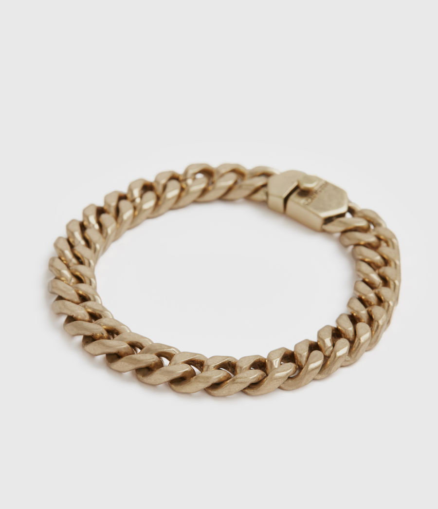 Womens Curb Gold-Tone Chain Bracelet (warm_brass) - Image 1