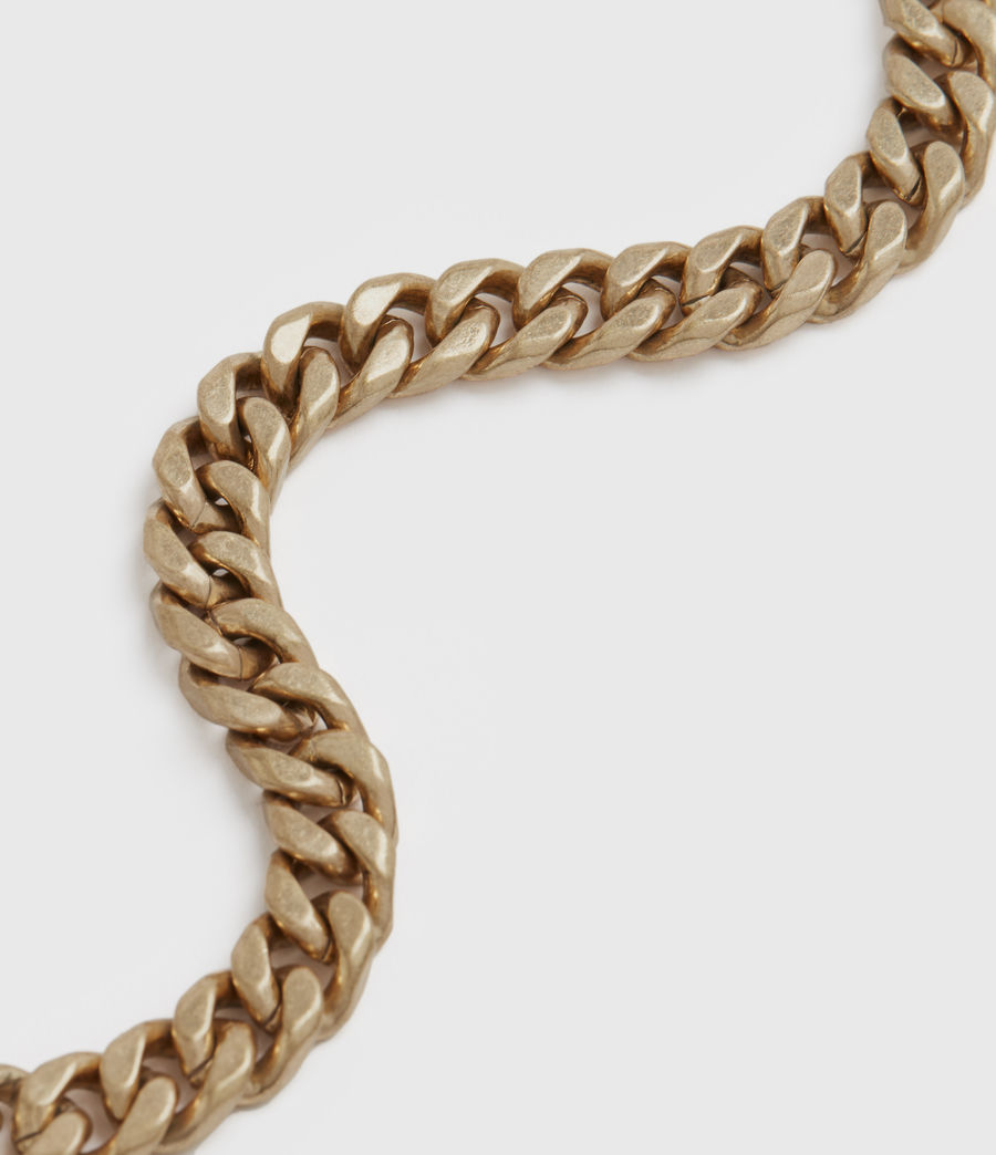 Womens Curb Gold-Tone Chain Bracelet (warm_brass) - Image 2