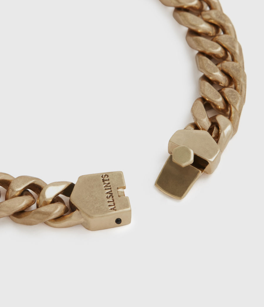 Womens Curb Gold-Tone Chain Bracelet (warm_brass) - Image 3