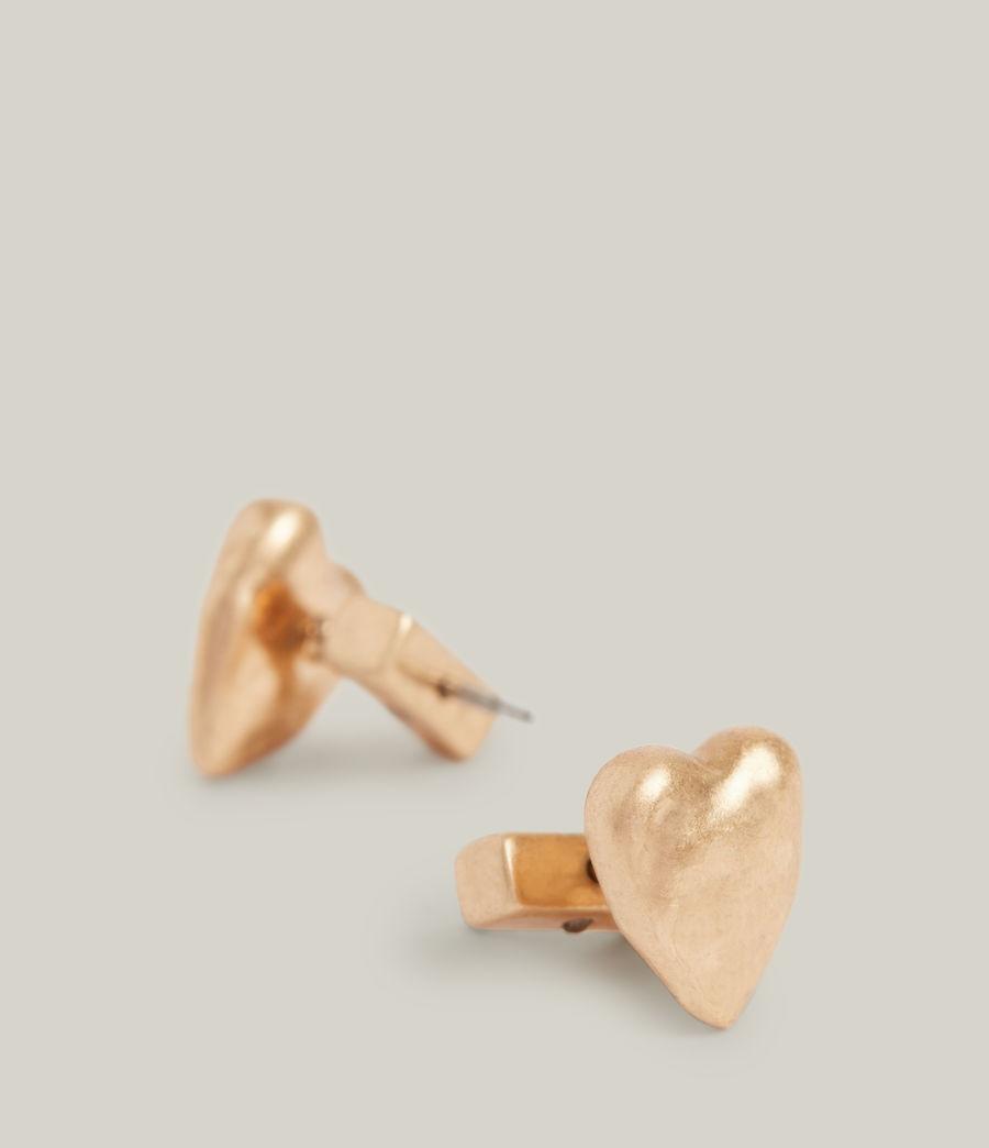 Damen Taffy Heart Stud Earrings (warm_brass) - Image 1