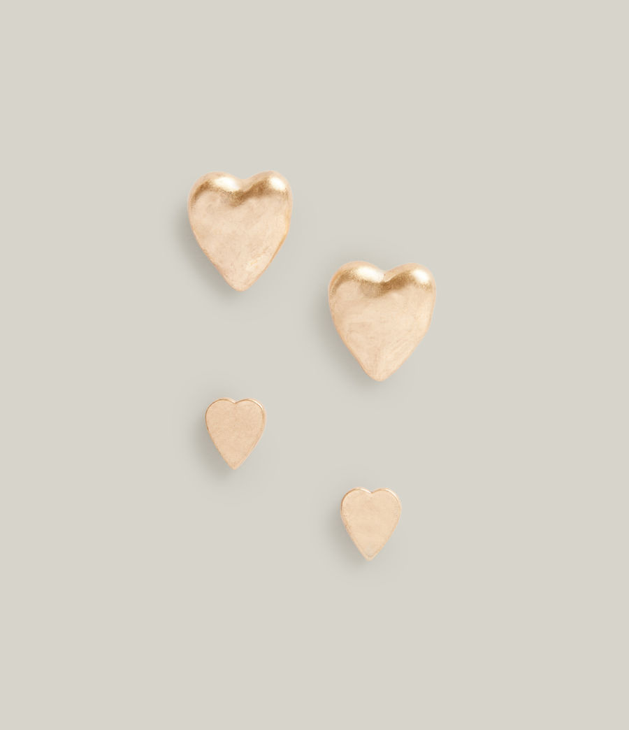 Damen Taffy Heart Stud Earrings (warm_brass) - Image 2