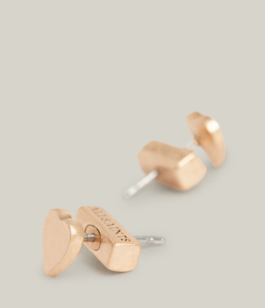 Damen Taffy Heart Stud Earrings (warm_brass) - Image 3