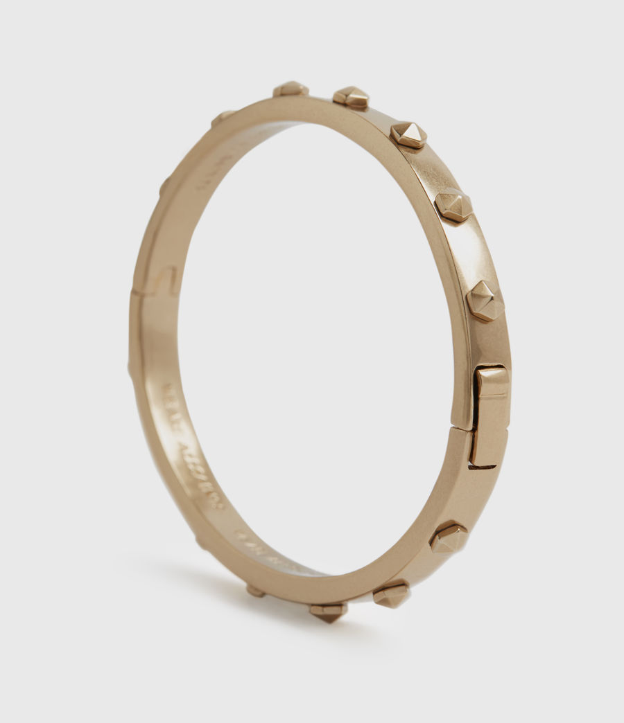 Womens Hex Gold-Tone Bangle (warm_brass) - Image 2