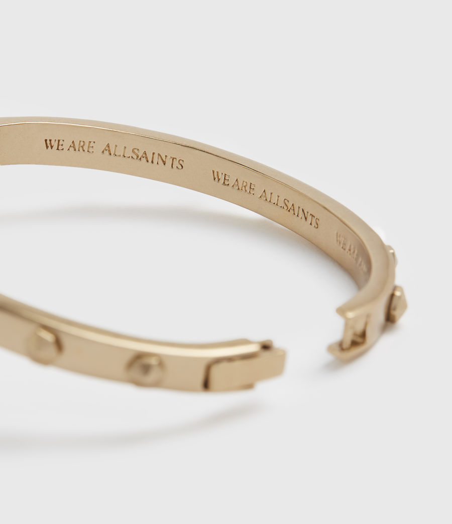 Womens Hex Gold-Tone Bangle (warm_brass) - Image 3