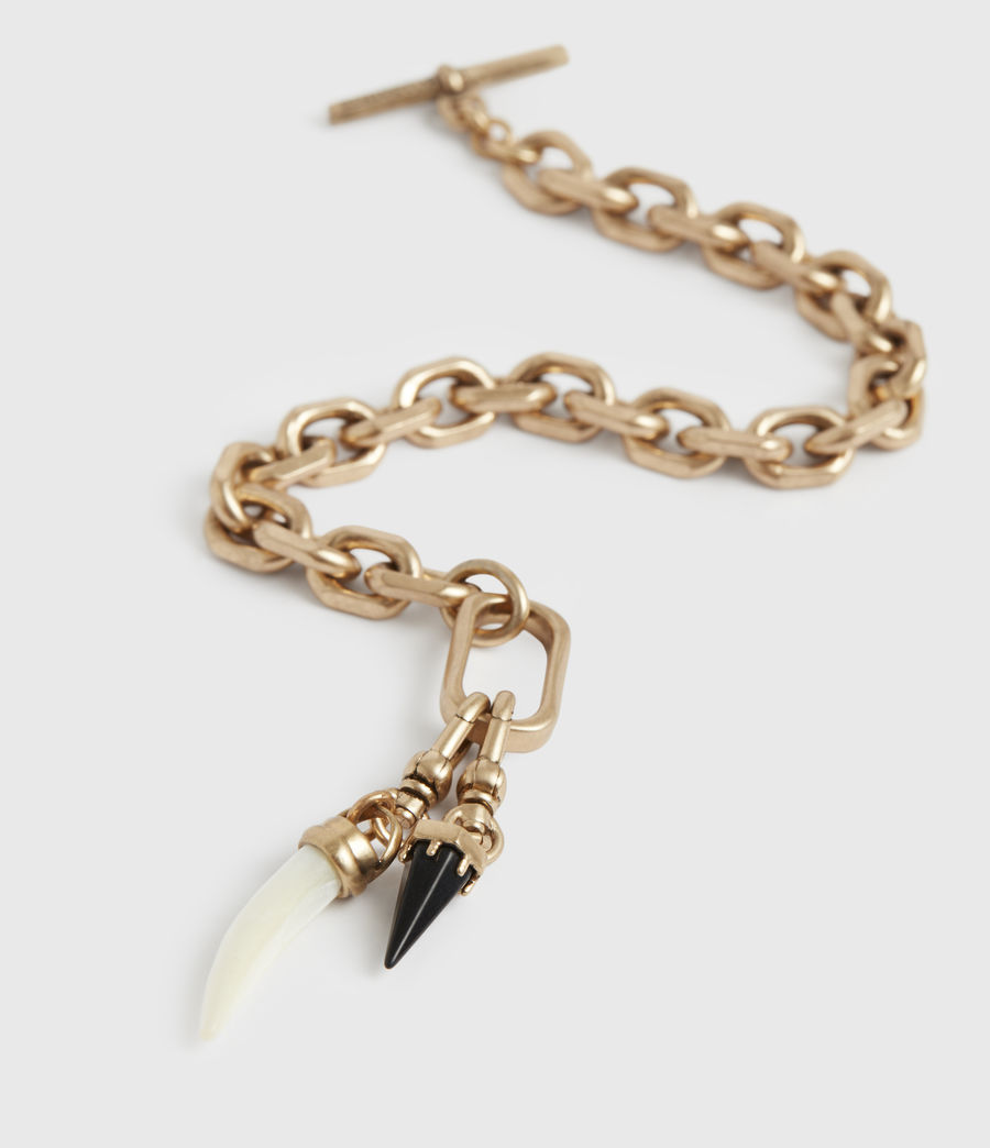 Womens Dallas Gold-Tone Mother Of Pearl Chain Bracelet (white_warm_brass) - Image 1