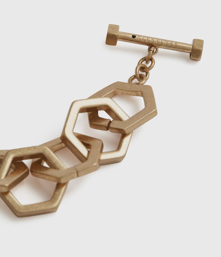 Womens Hexlink Gold-Tone Bracelet (warm_brass) - Image 2