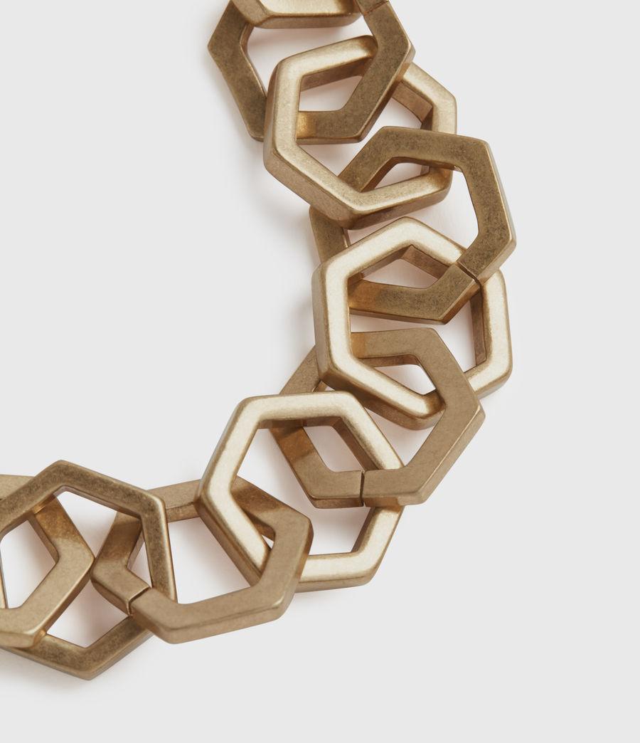 Womens Hexlink Gold-Tone Bracelet (warm_brass) - Image 3