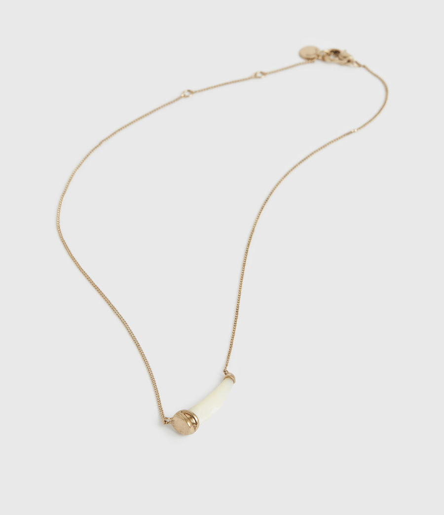 Women's Sadie Gold-Tone Mother Of Pearl Necklace (white_warm_brass) - Image 2