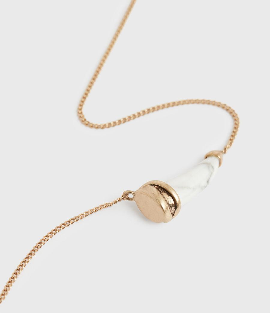 Women's Jessie Gold-Tone Pendant Necklace (white_warm_brass) - Image 2