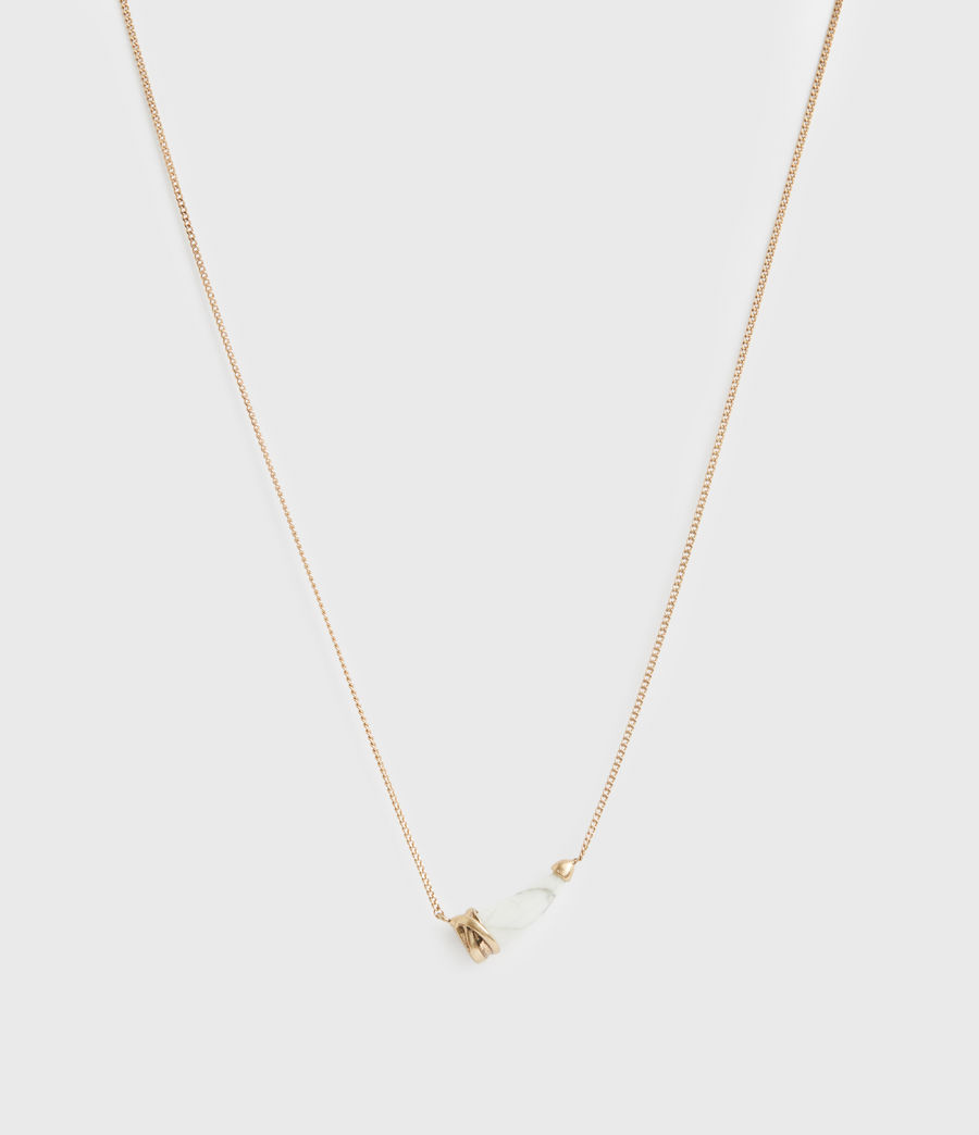 Women's Jessie Gold-Tone Pendant Necklace (white_warm_brass) - Image 3