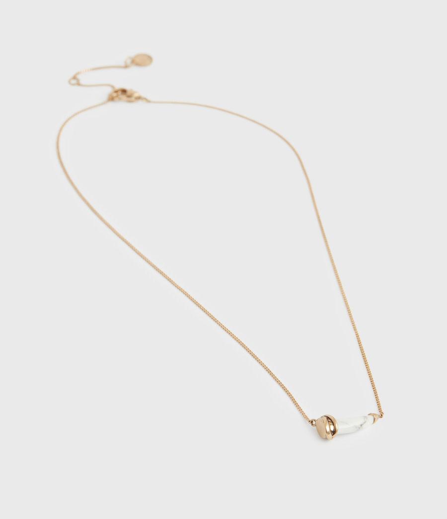Women's Jessie Gold-Tone Pendant Necklace (white_warm_brass) - Image 4