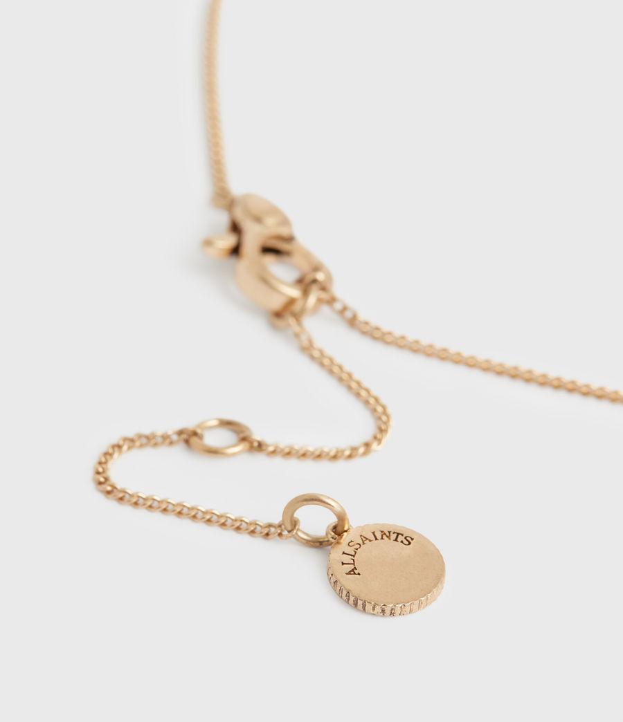 Women's Jessie Gold-Tone Pendant Necklace (white_warm_brass) - Image 5