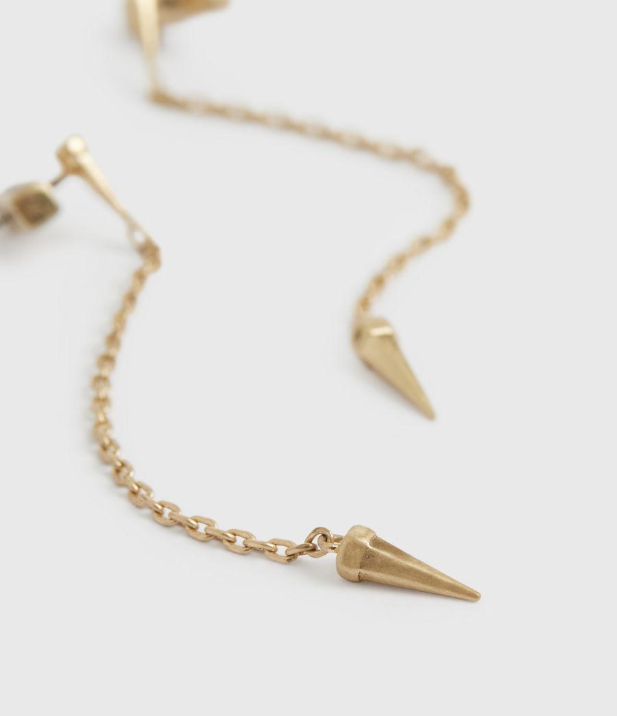 Womens Flora Gold-Tone Drop Earrings (warm_brass) - Image 1