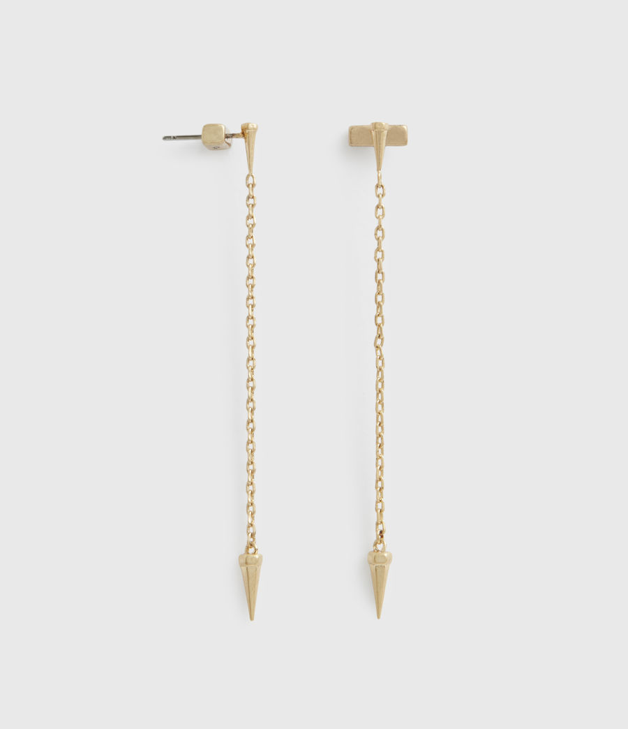 Womens Flora Gold-Tone Drop Earrings (warm_brass) - Image 2