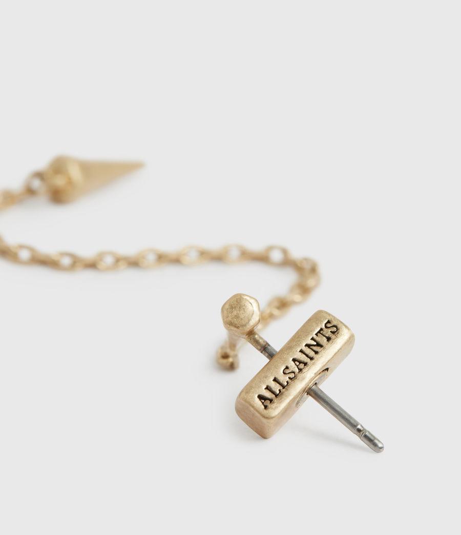 Womens Flora Gold-Tone Drop Earrings (warm_brass) - Image 3
