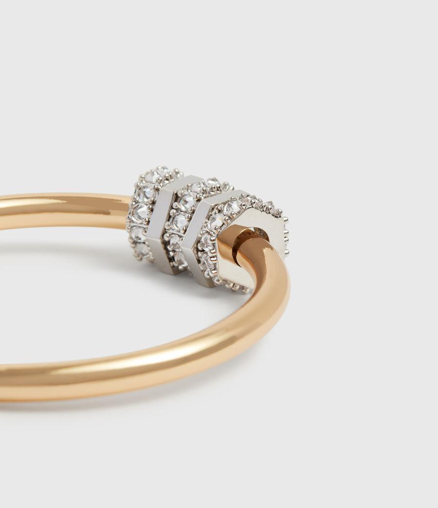 Womens Gia Gold Tone Cubic Zirconia Hoop Earrings (gold) - Image 1