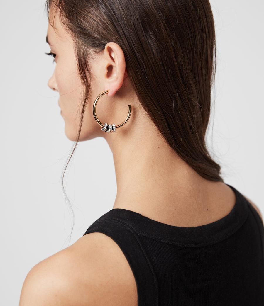 Womens Gia Gold Tone Cubic Zirconia Hoop Earrings (gold) - Image 2