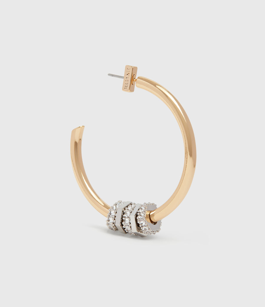 Womens Gia Gold Tone Cubic Zirconia Hoop Earrings (gold) - Image 3