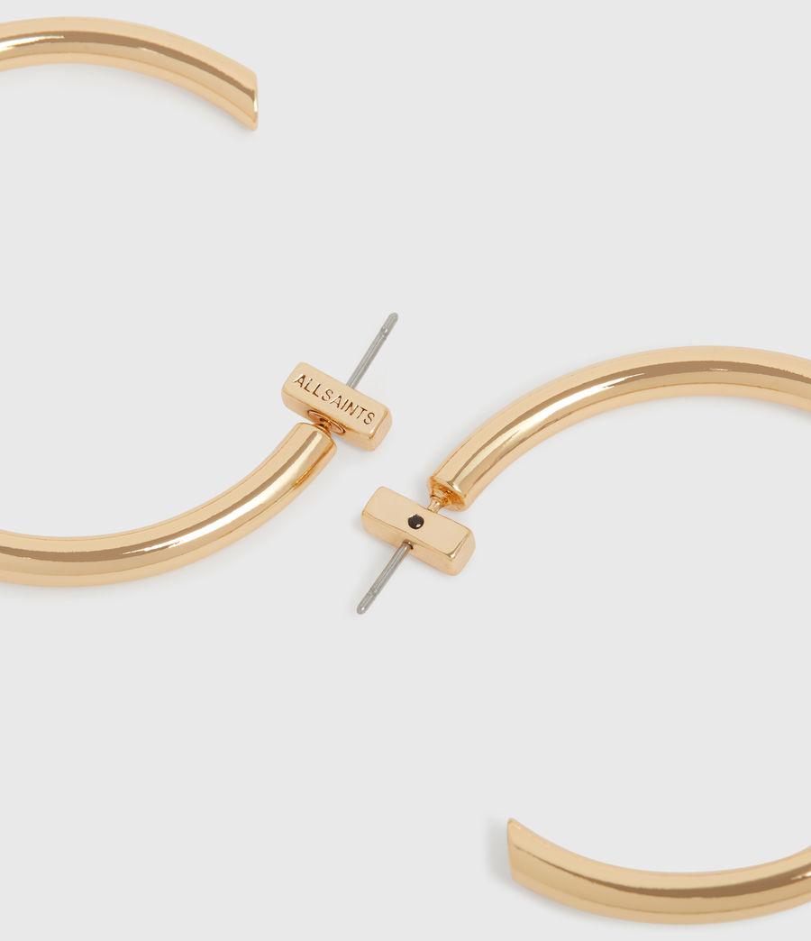 Womens Gia Gold Tone Cubic Zirconia Hoop Earrings (gold) - Image 5