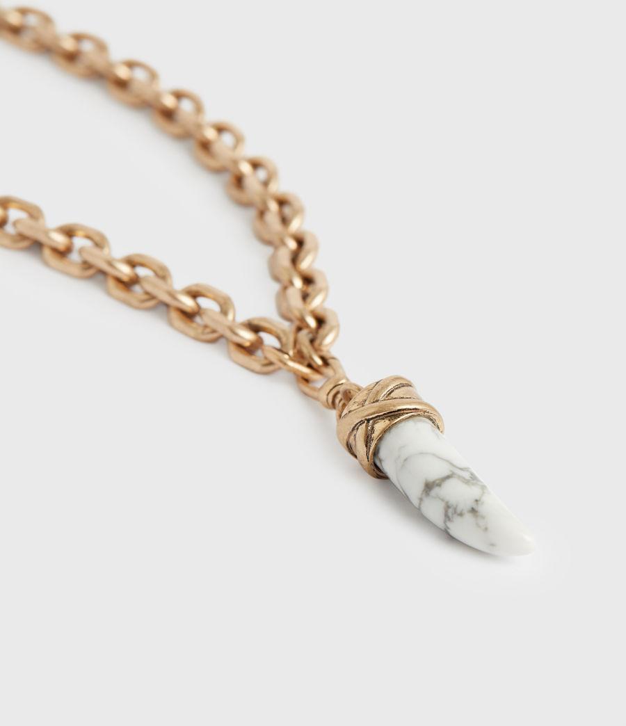Women's Grace Gold-Tone Pendant Necklace (white_warm_brass) - Image 2