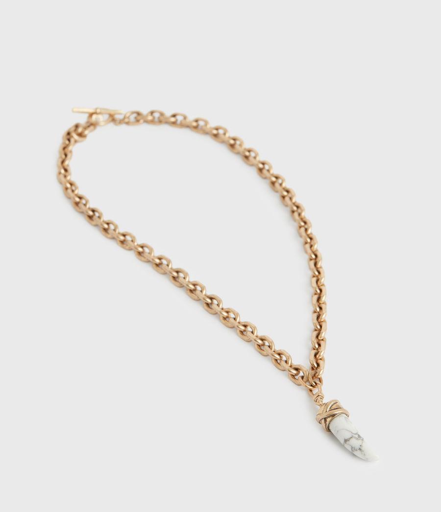 Women's Grace Gold-Tone Pendant Necklace (white_warm_brass) - Image 4